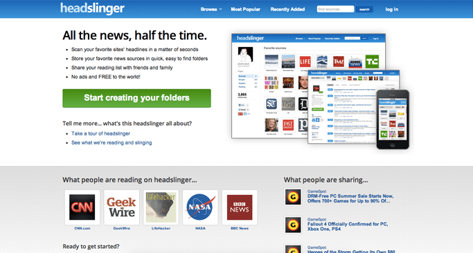 Headslinger - Content Curation Websites Made Easy