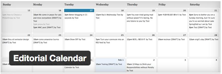 5 Content Calendar Tools WP Editorial Calendar