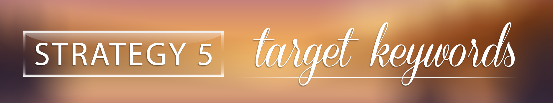 Strategy 5 - target keywords with Websites Made Easy