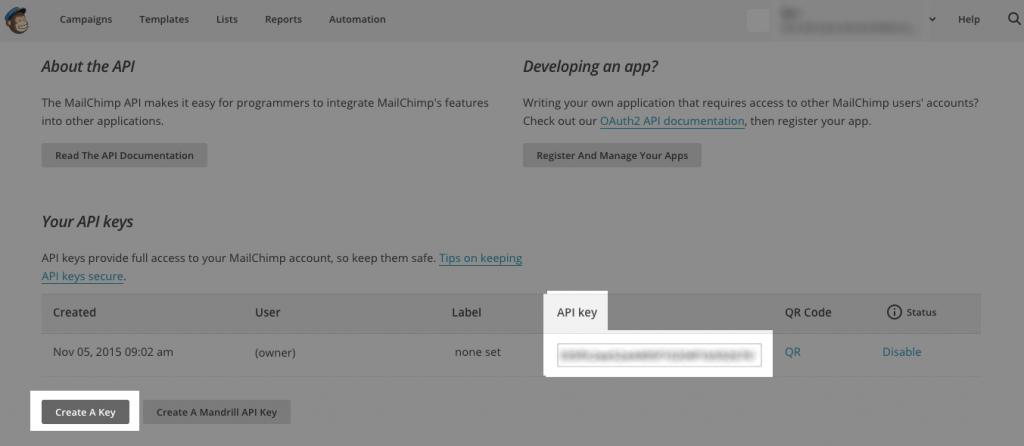 MailChimp API 3